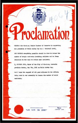 Proclamation - Child Safety Day
