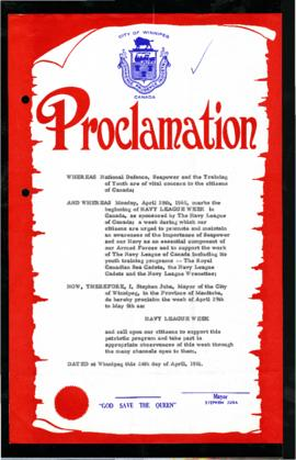 Proclamation - Navy League Week