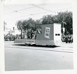 Winnipeg's 75th Anniversary parade - Salisbury House float