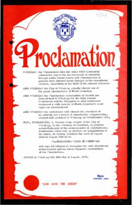 Proclamation - Planetarium Week in Winnipeg