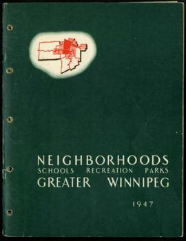 Preliminary Report on Neighborhoods - Metropolitan Plan for Greater Winnipeg