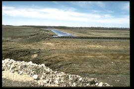 1997 flood - Pembina Highway - viewing west (railway tracks)