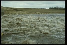 1997 flood - Courchaine Road - floodway gates