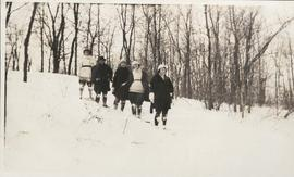 Group of women snowshoeing
