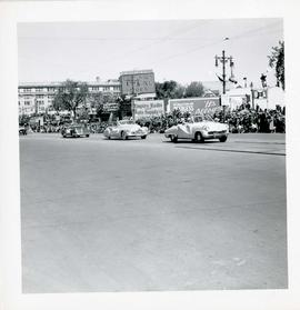 Winnipeg's 75th Anniversary parade - line of cars
