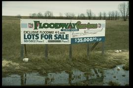 1997 flood - St. Mary's Road at Chrypko Drive - signage