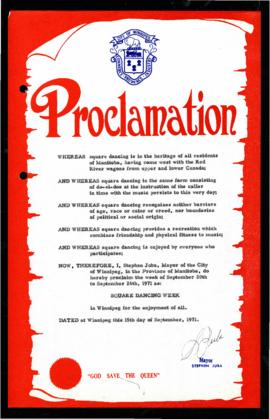 Proclamation - Square Dancing Week