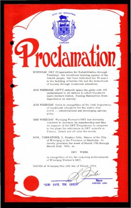 Proclamation - ORT Week