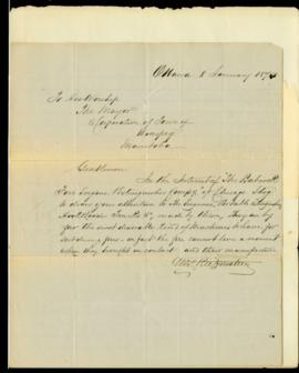 Letter from George F. Ruffenstein  to Council regarding the sale of Babcock firefighting devices