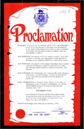 Proclamation - Ukrainian Week