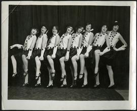 Dancers in costume, including Gertrude Ryall, Gwen Cox, and Betty Tisdale