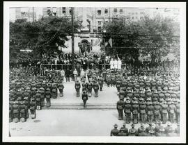 American battalion in front of City Hall