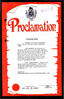 Proclamation - Symphony Week