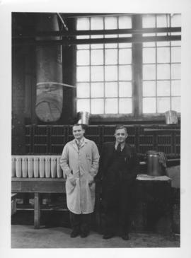 Chief Government Inspector Howie and Plant Manager William Daum at Dominion Bridge Company
