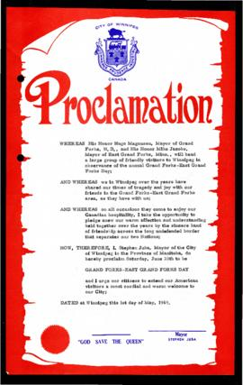 Proclamation - Grand Forks-East Grand Forks Day