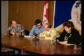 1997 flood - City Hall - mayor's press conference