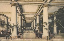 View of Rotunda (lobby-main floor) of Royal Alexandra Hotel, Northeast corner of Higgins Avenue and Main Street, ca. 1906