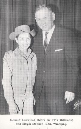 Johnnie Crawford (Mark in TV's Rifleman) and Mayor Stephen Juba, Winnipeg