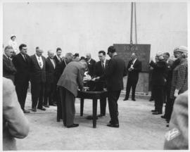 No. 3 - Laying of the cornerstone at new City Hall, May 15, 1964 (shows preparation of documents)
