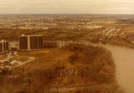 Aerial of 1974 Flood – Red River between North and West Kildonan