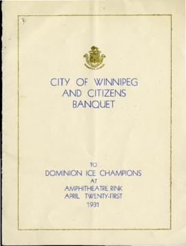 Program - City of Winnipeg and Citizens Banquet