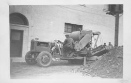 "WW 23, Badger Trencher, trench 8 ft. 6 inches, 8"" watermain, Fort Street, south of York - 1947"