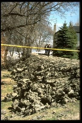1997 flood - Scotia Street - earthen dike