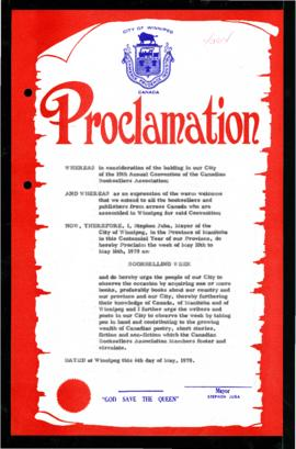 Proclamation - Bookselling Week