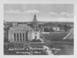 Auditorium and Parliament Buildings, Winnipeg, Man.