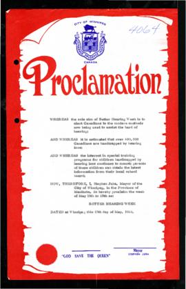 Proclamation - Better Hearing Week