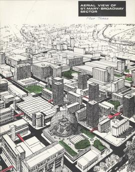 Downtown Winnipeg - Aerial view of St. Mary-Broadway Sector (Map Three)