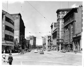 Portage Avenue and Main Street looking north