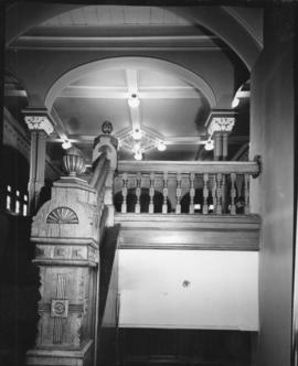 Interior view of City Hall showing staircase