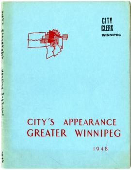 Preliminary report on city's appearance - Metropolitan Plan for Greater Winnipeg