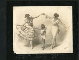 Alice Weir with two students, Dorothy Dahl and Peggy Smith