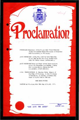 Proclamation - Big Sing Week