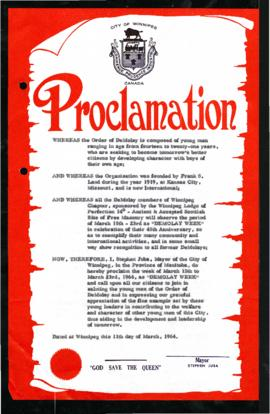 Proclamation - DeMolay Week