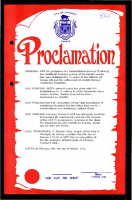 Proclamation - ORT Day