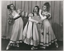 Jean McKenzie, Lillian Lewis and Viola Busday in scene from Object Matrimony, Winnipeg Ballet, performed at Playhouse Theatre