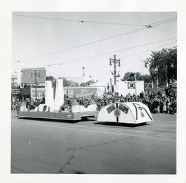 Winnipeg's 75th Anniversary parade - Army, Navy, Airforce Veterans Units float