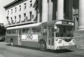 First Western Flyer bus in front of Legislature