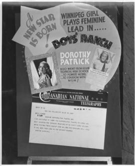 "Poster announcing Metropolitan Theatre selected for Canadian premiere of ""Boys' Ranch"" ..."