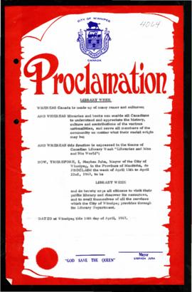 Proclamation - Library Week
