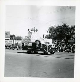 Winnipeg's 75th Anniversary parade - Ogilvie float