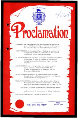 Proclamation - National Figure Skating Championship Week