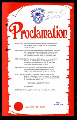 Proclamation - National Library Week