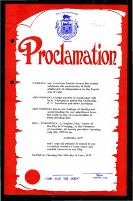 Proclamation - America Day