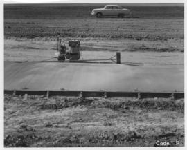 Pavement construction Project P, Waverley Street from Wilkes Avenue to McGillivray Boulevard, October 7, 1963
