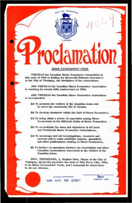 Proclamation - Home Economists' Week