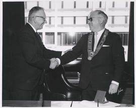 Mayor Stephen Juba and Mayor of Copenhagen, Denmark, October 6, 1966